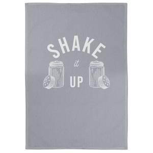 Shake It Up Cotton Grey Tea Towel