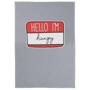 Hello I'm Hungry Cotton Grey Tea Towel