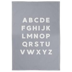 Alphabet Cotton Grey Tea Towel