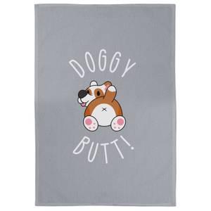 Doggy Butt Cotton Grey Tea Towel