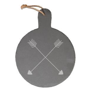 Arrows Engraved Slate Cheese Board