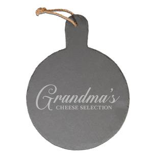 Grandma's Cheese Selection Engraved Slate Cheese Board