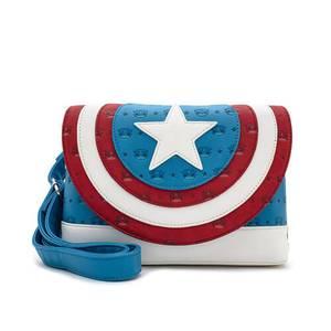 Loungefly Marvel Sac à Bandoulière Captain America
