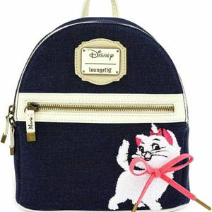 Loungefly Disney Marie Denim Mini Backpack