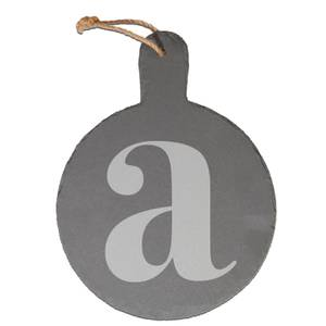 Lowercase Letter Engraved Slate Cheese Board