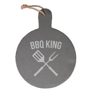 Bbq King Engraved Slate Cheese Board