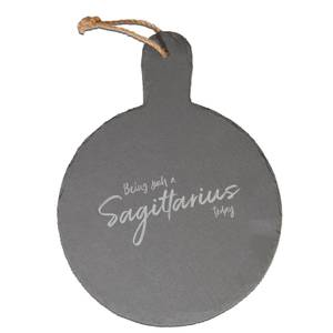 Being Such A Sagittarius Today Engraved Slate Cheese Board