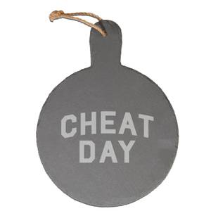 Cheat Day Engraved Slate Cheese Board
