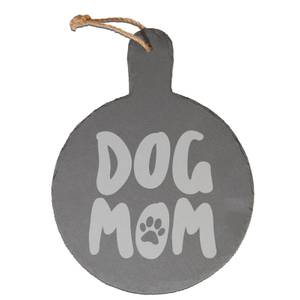 Dog Mom Engraved Slate Cheese Board