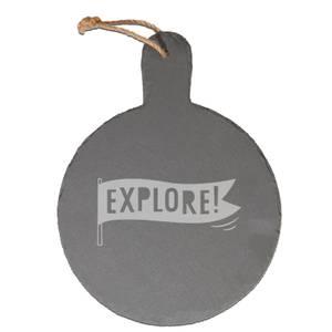 Explore Engraved Slate Cheese Board