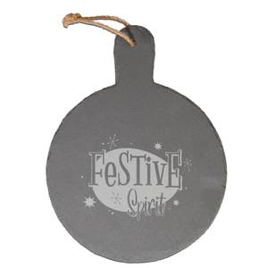 Festive Spirit Engraved Slate Cheese Board