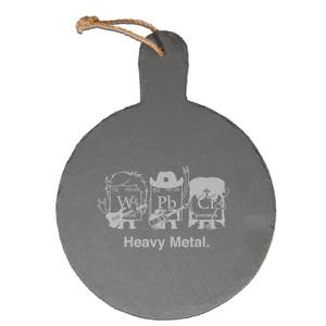Heavy Metal Engraved Slate Cheese Board