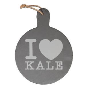 I Love Kale Engraved Slate Cheese Board