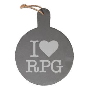 I Love RPG Engraved Slate Cheese Board