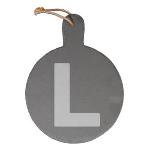 L Plates Engraved Slate Cheese Board