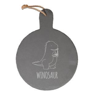 Winosaur Engraved Slate Cheese Board