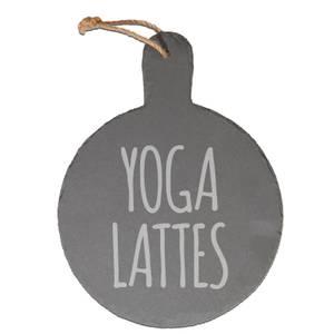 Yoga Lattes Engraved Slate Cheese Board