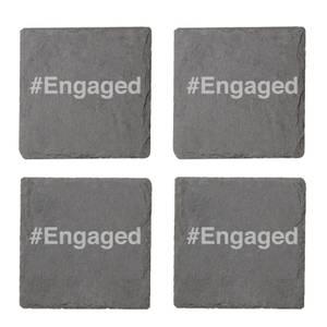 #Engaged Engraved Slate Coaster Set
