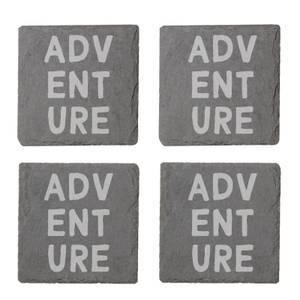 Adventure Engraved Slate Coaster Set