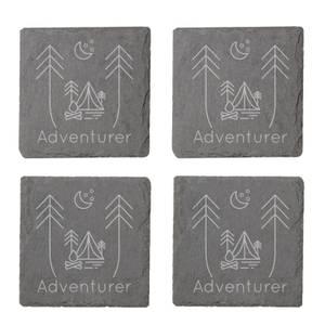 Adventurer Engraved Slate Coaster Set