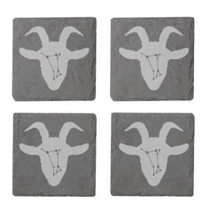 Aries Engraved Slate Coaster Set