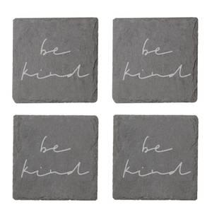 Be Kind Engraved Slate Coaster Set