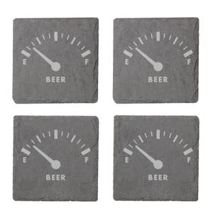 Beer Fuel Engraved Slate Coaster Set