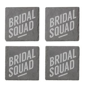 Bridal Squad Engraved Slate Coaster Set