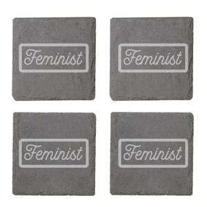 Feminist Engraved Slate Coaster Set
