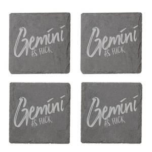 Gemini As Fuck Engraved Slate Coaster Set