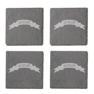 Hen Do Engraved Slate Coaster Set