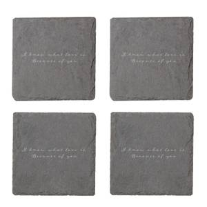 I Know What Love Is Engraved Slate Coaster Set