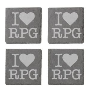 I Love RPG Engraved Slate Coaster Set