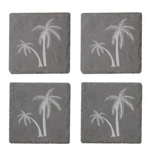 Palm Trees Engraved Slate Coaster Set