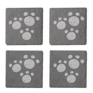 Paw Prints Engraved Slate Coaster Set