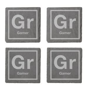 Periodic Gamer Engraved Slate Coaster Set