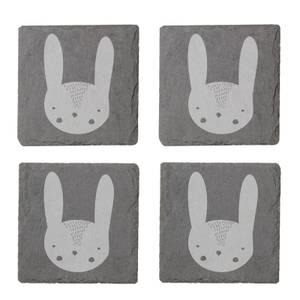 Rabbit Engraved Slate Coaster Set