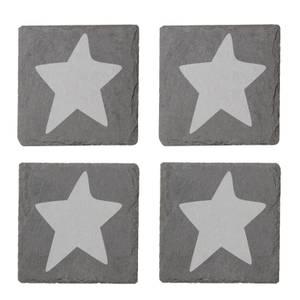 Star Engraved Slate Coaster Set