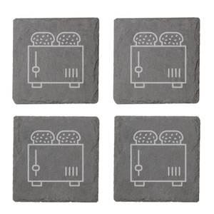 Toaster Engraved Slate Coaster Set