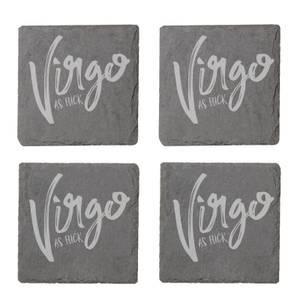 Virgo As Fuck Engraved Slate Coaster Set
