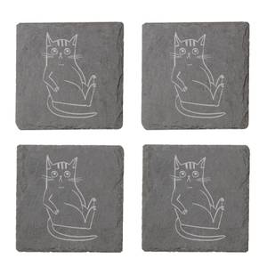 What You Looking At Engraved Slate Coaster Set