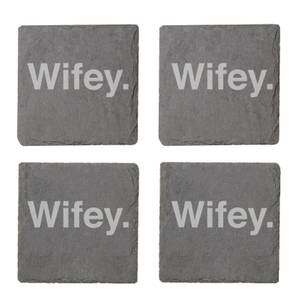 Wifey. Engraved Slate Coaster Set