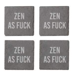 Zen As Fuck Engraved Slate Coaster Set