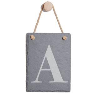 Uppercase Letter Engraved Slate Memo Board - Portrait