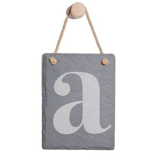 Lowercase Letter Engraved Slate Memo Board - Portrait
