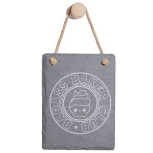 Badass Baker Club Engraved Slate Memo Board - Portrait