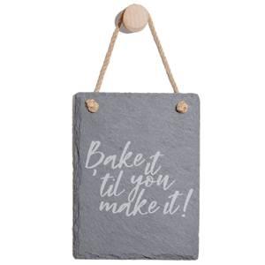 Bake It 'til You Make It Engraved Slate Memo Board - Portrait