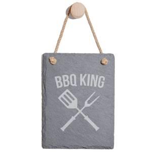 Bbq King Engraved Slate Memo Board - Portrait