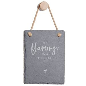 Be A Flamingo In A Flock Of Pigeons Engraved Slate Memo Board - Portrait