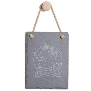 Be Magical & Shit Engraved Slate Memo Board - Portrait